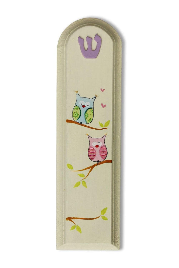 Whimsical Hand Painted Mezuzahs by Sharon Goldstein by Sharon Goldstein Happy Judaica - ModernTribe - 4