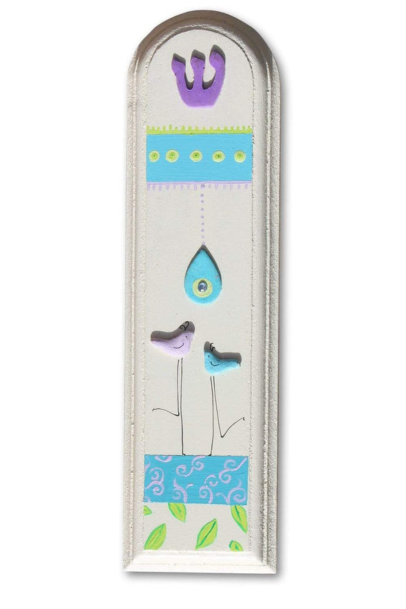 Whimsical Hand Painted Mezuzahs by Sharon Goldstein by Sharon Goldstein Happy Judaica - ModernTribe - 8