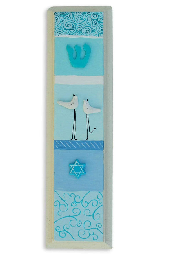 Whimsical Hand Painted Mezuzahs by Sharon Goldstein by Sharon Goldstein Happy Judaica - ModernTribe - 3
