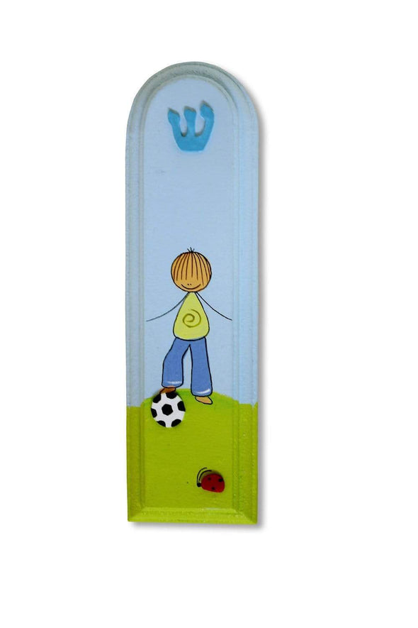Whimsical Hand Painted Mezuzahs by Sharon Goldstein by Sharon Goldstein Happy Judaica - ModernTribe - 2