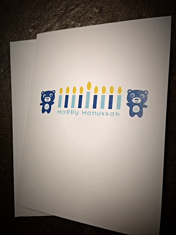Happy Hanukkah Bears Greeting Card by Twinko - ModernTribe
