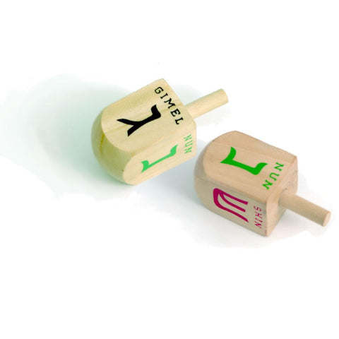 ModernTribe Large Dreidels - Set of 10 - Ages 3+ by ModernTribe - ModernTribe