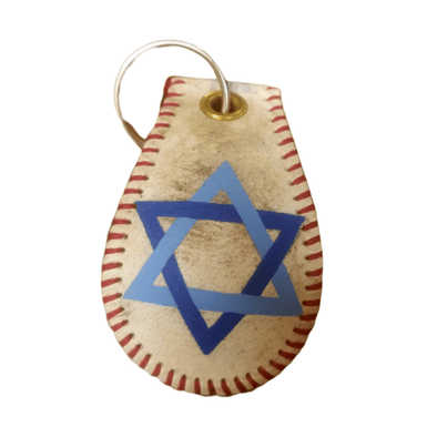 Star of David Baseball Keychain