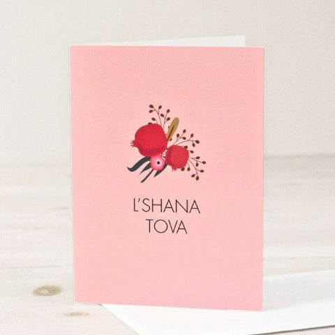 L'Shana Tova - Rosh Hashanah Greeting Card by Chai and Home - ModernTribe - 1