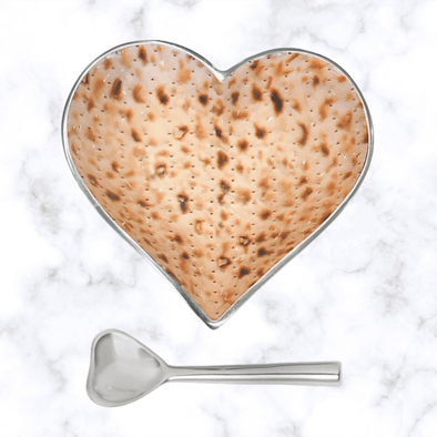 Inspired Generations Serving Pieces Default Matzah Heart Bowl and Spoon