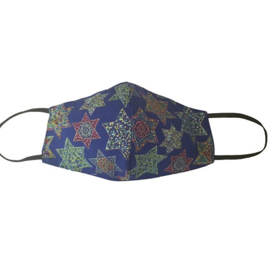 Mosaic Star of David Face Mask - 100% Cotton