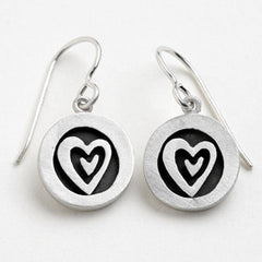 Heart Vignette Earrings in Sterling Silver by Emily Rosenfeld - ModernTribe