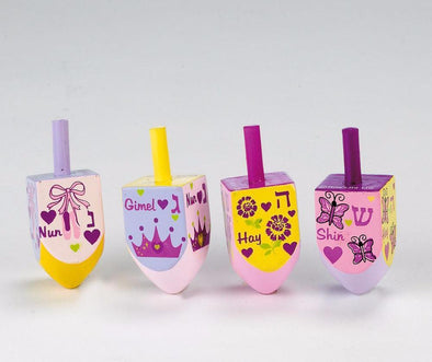 Princess Dreidels - Set of 4 by Rite Lite - ModernTribe - 1