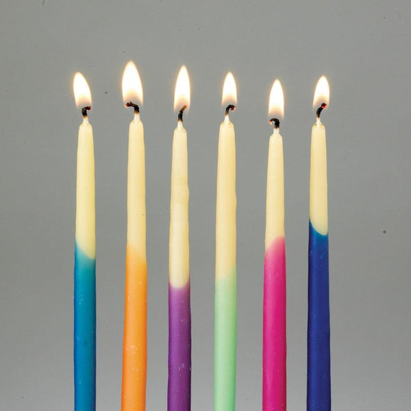 Rite Lite Candles Default Hanukkah Candles - Hand-dipped Beeswax, Assorted Colors
