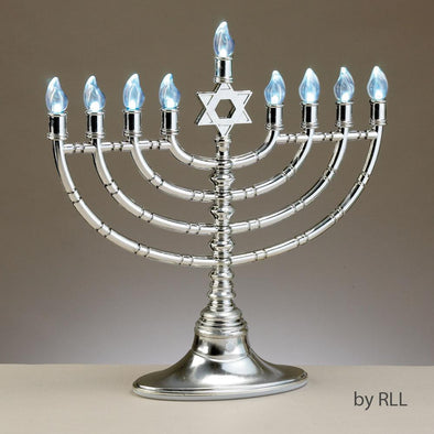 Silvertone Electric LED Menorah