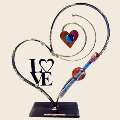 Deluxe Heart Shards Holder by Gary Rosenthal