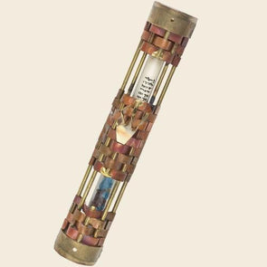 Woven Wedding Mezuzah by Gary Rosenthal