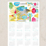 New Year's Calendar 5775 - Fish & Pomegranates by Dvash - ModernTribe - 4