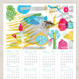 New Year's Calendar 5775 - Fish & Pomegranates by Dvash - ModernTribe - 2