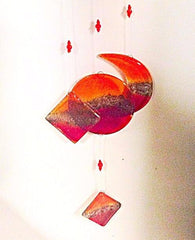 Red Fused Glass Mobile