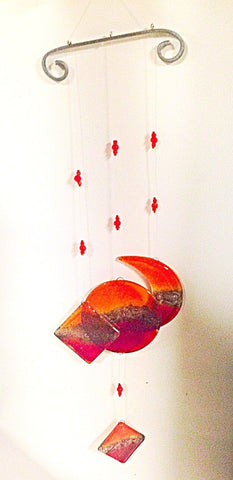Red Fused Glass Mobile by Simple Touch IL - ModernTribe