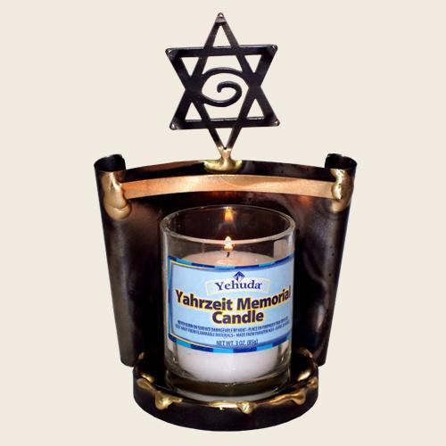 Yahrzeit Candle Holder by Gary Rosenthal