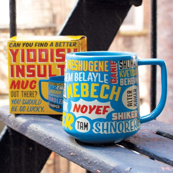 The Unemployed Philosophers Guild Cup or Mug Yiddish Insults Mug