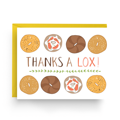 Nicole Marie Paperie Card Thanks a Lox Greeting Cards, Box of 6