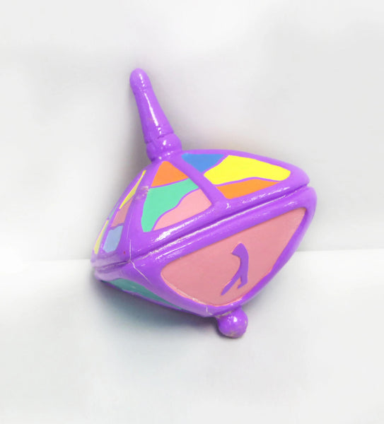 "Copy of Multicolor Clay Dreidel - 4"" Fuschia Top - ModernTribe"