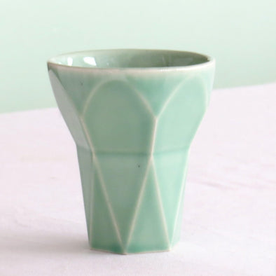 Hexagon Aqua Shabbat Kiddush Cup