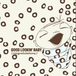 Good Looking Baby Boy Card by Seltzer Goods - ModernTribe