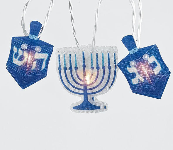 Chanukah Hologram Blue and White Light Set
