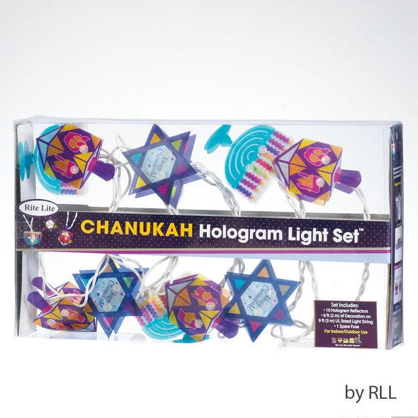 Hanukkah Hologram String Lights