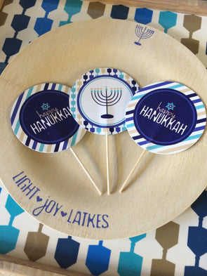 ModernTribe's Round Cupcake/Donut Toppers - Set of 10 by ModernTribe - ModernTribe - 5