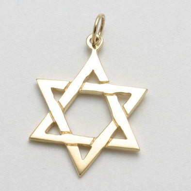 Classic 14k Gold Star of David Pendant