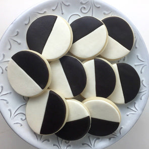 Marzipan Black & White Cookies
