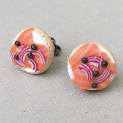 Bagel and Lox Stud Earrings