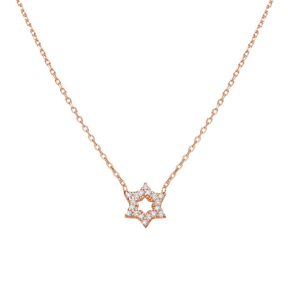 Star of David Sparkle Necklace - Gold, Silver or Rose Gold