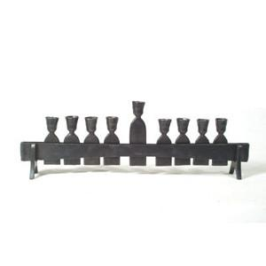 Trestle Forged Iron Menorah by Blackthorne Forge - ModernTribe - 1
