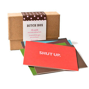 Bitch Box Note Cards - Set of 12 by Seltzer Goods - ModernTribe