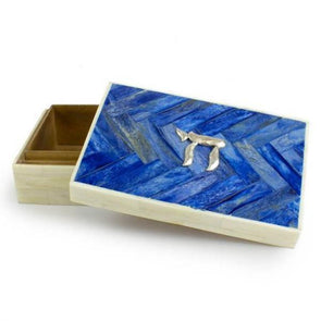 Blue Horn Inlay Chai Box