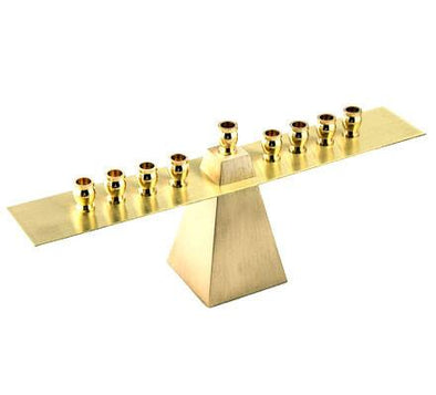 Brass Floating Menorah by Joy Stember by Joy Stember - ModernTribe - 1