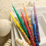 Handcrafted Rainbow Hanukkah Candles