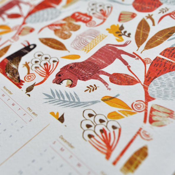 Jewish New Year's Calendar 5775 - Lions by Dvash - ModernTribe - 2