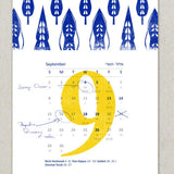 Jewish New Year's Calendar 5775 - Monthly Cards by Dvash - ModernTribe - 2
