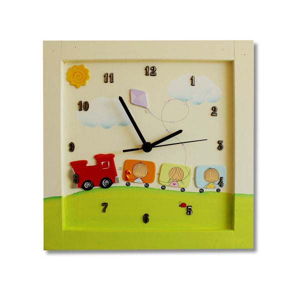 Personalized Children's Wall Clocks in Hebrew or English by Sharon Goldstein Happy Judaica - ModernTribe - 9