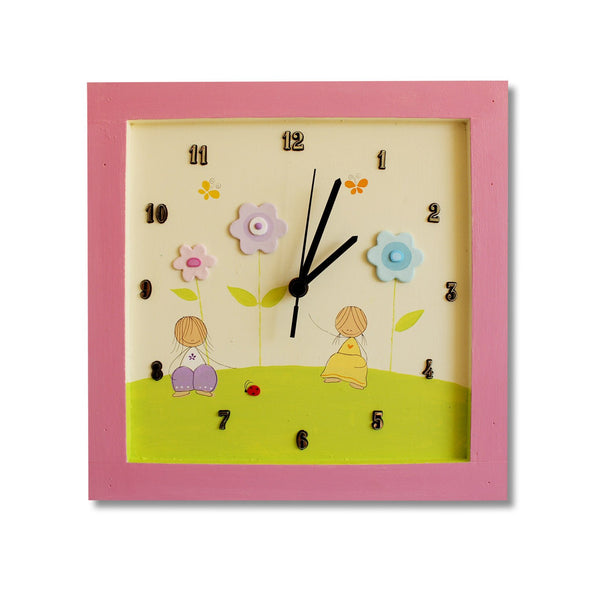 Personalized Children's Wall Clocks in Hebrew or English by Sharon Goldstein Happy Judaica - ModernTribe - 4