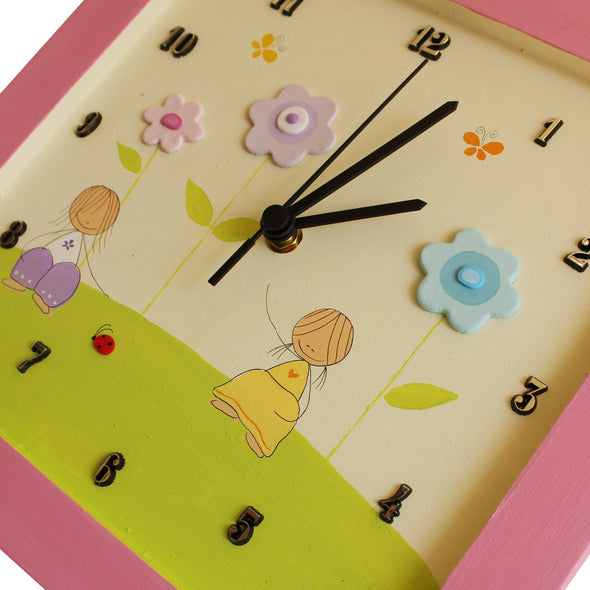 Personalized Children's Wall Clocks in Hebrew or English by Sharon Goldstein Happy Judaica - ModernTribe - 6