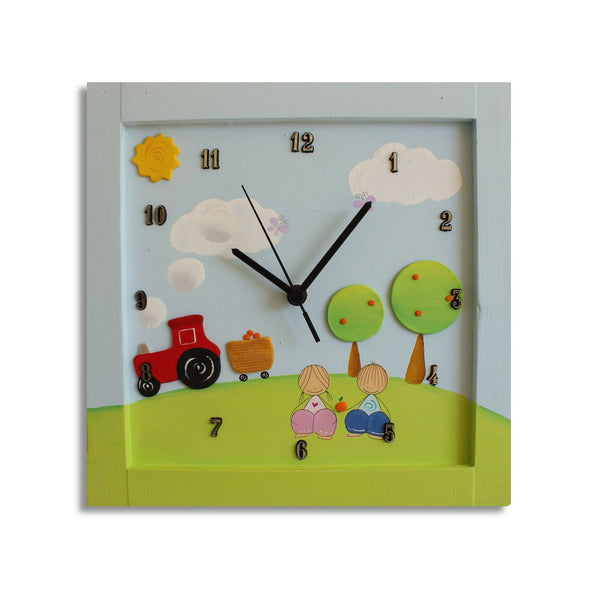Personalized Children's Wall Clocks in Hebrew or English by Sharon Goldstein Happy Judaica - ModernTribe - 5