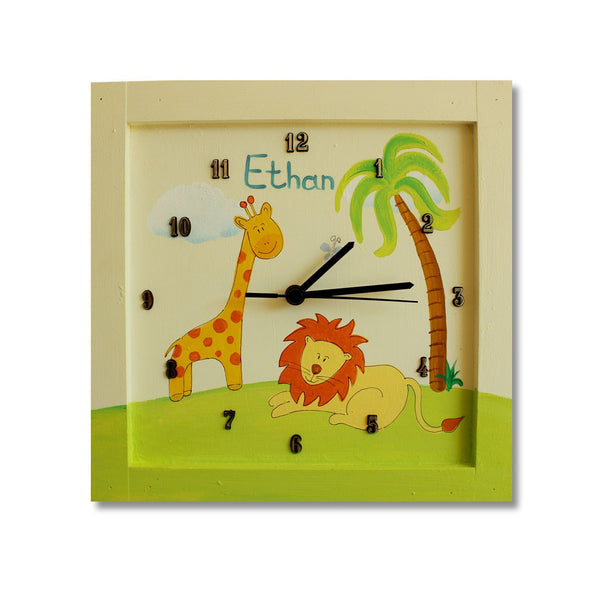 Personalized Children's Wall Clocks in Hebrew or English by Sharon Goldstein Happy Judaica - ModernTribe - 12