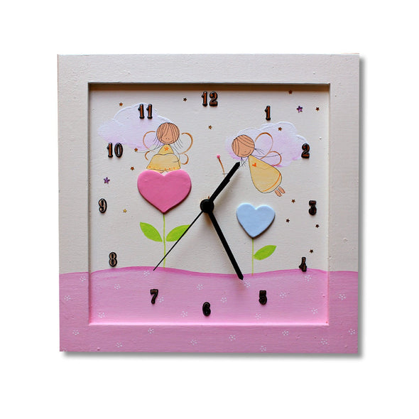 Personalized Children's Wall Clocks in Hebrew or English by Sharon Goldstein Happy Judaica - ModernTribe - 3