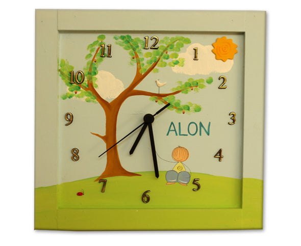 Personalized Children's Wall Clocks in Hebrew or English by Sharon Goldstein Happy Judaica - ModernTribe - 7