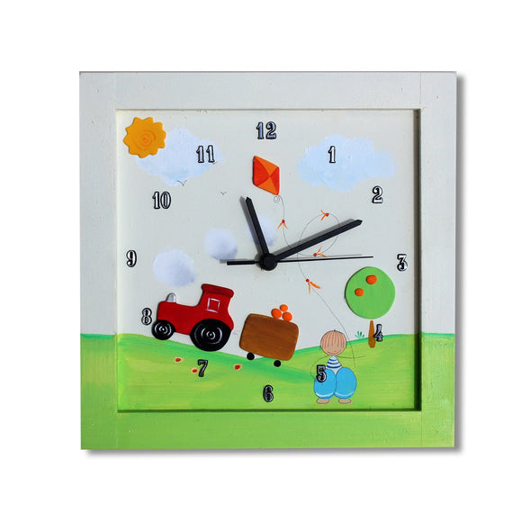 Personalized Children's Wall Clocks in Hebrew or English by Sharon Goldstein Happy Judaica - ModernTribe - 2