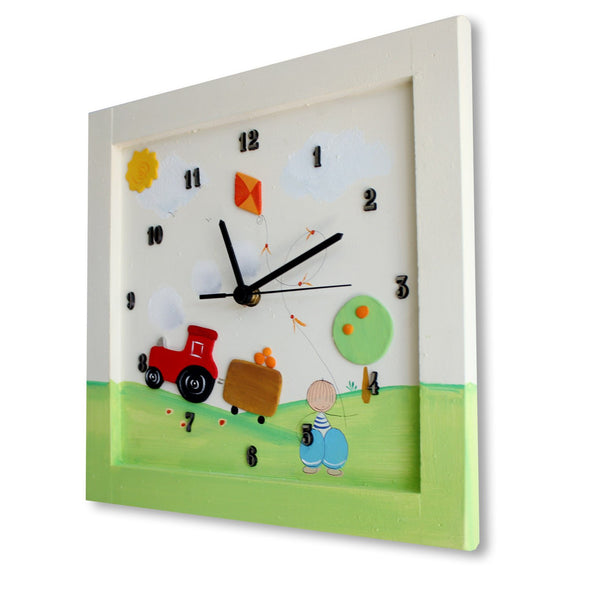 Personalized Children's Wall Clocks in Hebrew or English by Sharon Goldstein Happy Judaica - ModernTribe - 14