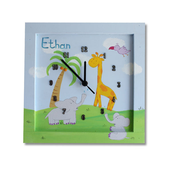 Personalized Children's Wall Clocks in Hebrew or English by Sharon Goldstein Happy Judaica - ModernTribe - 11